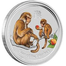 Lunar II singe Monkey en couleur color COLORIERT 2oz Colour 2016 perth MINT II couleur