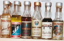 Liquori Lotto 6 mignon bottigliette miniature distilleria Moccia Ferrara Italy
