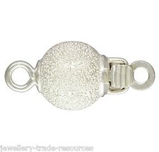 6mm Argent Sterling Perle stardust / perles collier fermoir bijoux en push catch