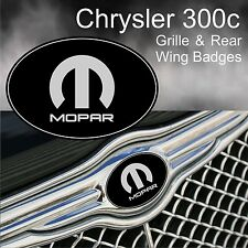 Chrysler 300c Mopar Grille & Rear Wing Badge Emblems