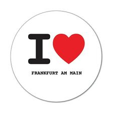 I love FRANKFURT AM MAIN - Aufkleber Sticker Decal - 6cm