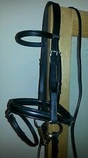 Stubben snaffle flash bridle full size black excellent condition used once