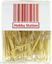 Brass Jumbo Giant Paper Clips Paperclips Paperclips Extra Large Paper Clips x 50