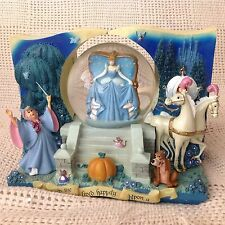 RARE Disney Cinderella THE MAGICAL JOURNEY Musical 2 Sided Snowglobe- HTF - MIB