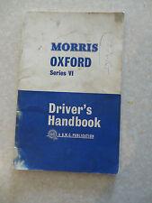 Original 1964 Morris Oxford Series VI automobile owner's manual