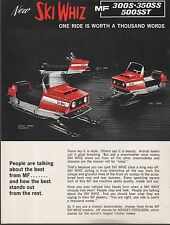 RARE MF MASSEY-FERGUSON SKI WHIZ SNOWMOBILE SALES BROCHURE SINGLE PAGE   (588)