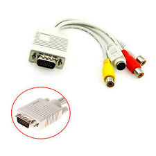 Laptops PC VGA SVGA to S-Video HD AV 3-RCA TV Out Converter Adapter Cable new