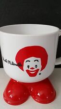 Vintage McDonald's Ronald McDonald Signature Clown 1985 White Cup with Red Feet