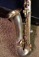 Nice Silver And Gold Plated C.G. Conn. C-Melody Saxophone. Playing Condition.