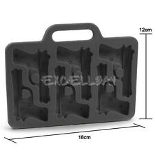 Ice Tray Cool Bar Party Drink Pistol Gun Ice Cube Style Ice Mold Ice Maker  E0Xc