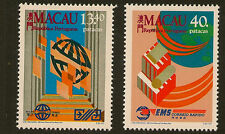 MACAU : 1988 New Postal Services set SG 679-80 unmounted mint