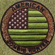 ZHT GEAR: AMERICAN FLAG MULTICAM ZOMBIE HUNTER PATCH  W/VELCRO ~THE WALKING DEAD