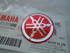 1 x YAMAHA Tank Emblem Badge Gel Decal Sticker RED 30MM