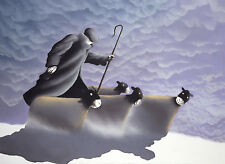 """Mackenzie Thorpe """"A Dusting"""" Hand Signed Numbered Lithograph Art Print on Paper"""