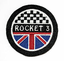CLASSIC TRIUMPH ROCKET 3  EMBROIDERED MOTORCYCLE PATCH