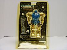 STARBOT BATTERY OPERATED WALKING 6 IN. ROBOT ES TOYS BLUE/GOLD/BLACK