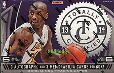 2013 13-14 PANINI TOTALLY CERTIFIED NBA HOBBY BOX: KOBE/DURANT/GRIFFIN AUTO