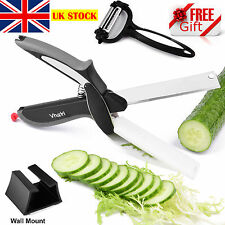 Vhari Clever Cutter 2in1 Kitchen Knife & Scissors with Cutting Board - FREE GIFT