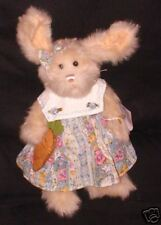 """NEW """"Carly"""" Stuffed Nougat Jointed Bunny Show Stoppers Retired 12"""" Long"""