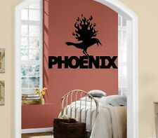 Wall Stickers Vinyl Decal Phoenix Fire Bird Mythical Creature Legend ig227