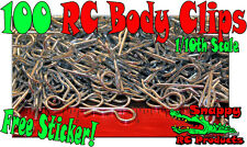 100 - 10th Body Clips RC Traxxas TMaxx EMaxx Revo Rustler Slash Stampede Summit