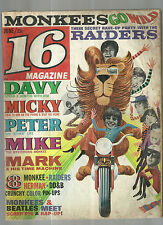July 1967 16 Magazine Monkees Raiders Davy Jones Beatles Herman's Hermits