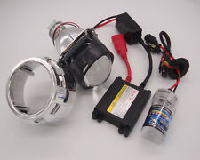 Mini Bi-Xenon Retrofit Projector Lens H4 w/H1 HID Conversion Kit, Shroud Combo