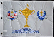 2016 SPECIAL EDITION Ryder Cup (Hazeltine) EMBROIDERED Golf FLAG