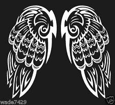 """Wings Angel White Vinyl Decal Sticker 6"""" Set Car Truck Window Laptop"""