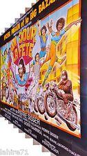 UN JOUR LA FETE ! m fugain le big bazar affiche vintage geante 4x3m moto 1974