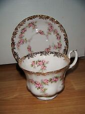 Royal Albert Dimity Rose Tea Cup & Saucer ~ 2nd Quality ~ Excellent Condition