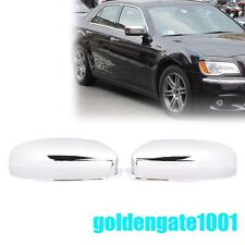 Chrome Top Half Mirror Cover Fit Chrysler 300 300C + Dodge Charger 2011-2016 GG
