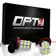 OPT7 Advanced H11 LED Fog Light 27-SMD DRL 6000K Cool White 5050 Bulb