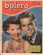rivista fotoromanzo - BOLERO - Anno 1952 Numero 276 BARBARA BATES E R. WAGNER
