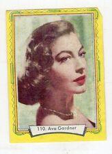 figurina - LAMPO ATTORI 1957 - numero 110 AVA GARDNER
