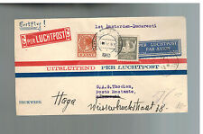 1930 Amsterdam Netherlands KLM First Flight Cover to Bucharest Romania FFC
