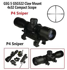 4X32 Compact Tactical Scope P4 Sniper Tactical MP5 HK G3 Scope Mount