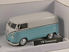 VOLKSWAGEN T1 VAN in Blue / White 1/43 scale model by Cararama