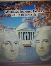 2015 Americas Founding Fathers Currency Set  VERY LOW NUMBERS  $1 $ $2 IN HAND