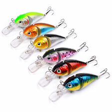 6pcs Lot Jointed Fishing Lures 14g 8.5cm Crank Bass Baits 6# Hook Fishing Tackle