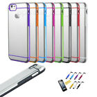 For iPhone 6 / 6 Plus Double Line Rubber TPU Border Case Cover Transparent Case