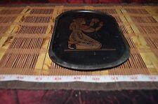"""Vintage Oval Brass Egyptian Platter Tray  9 3/8""""x5 3/8"""""""