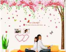 Huge Pink Cherry Blossom Flower Tree Wall Sticker Art Mural Home Decor Decal UK