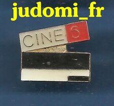Pin's pin CLAP CLAQUETTE CINEMA CINE 6 clapperboard (ref 002)