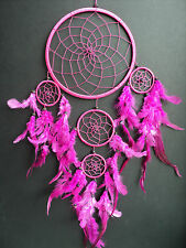LARGE PINK DREAM CATCHER GIRLS GIFT DREAMCATCHER FAIR TRADE GOOD QUALITY 22 X 50
