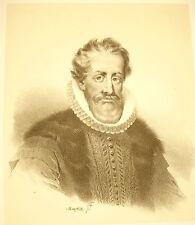 LITHOGRAPHIE de Jean-Baptiste MAUZAISSE Nicolas de Neufville marquis de Villeroy