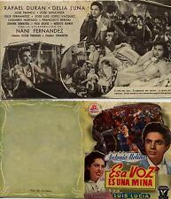 Año 1956. Programa de CINE. Título película: Esa VOZ es una mina.