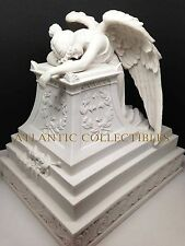 MOURNING ANGEL STATUE CREMATION URN RESIN BOTTOM LOAD 320 CUBIC INCH