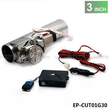 "3.0"" Electric I-Pipe Exhaust Downpipe Cutout E-Cut Out Valve System Kit+Remonte"