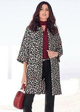 NEW Kaleidoscope Animal Print Jacquard Jacket / Coat, Leopard, size UK 10 Kimono